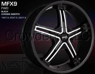 Metal FX Car Wheel/Rim MFX9 Black 22 inch 4 Lug
