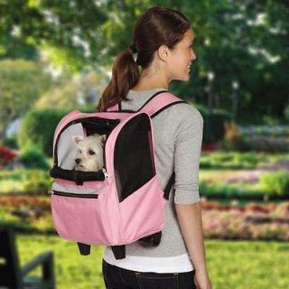 On The Go Pet Rolling Backpack dog pet carrier tote wheeled cart pink