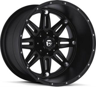 MHT Fuel Hostage 20x14 Deep Lip Black Wheels All Trucks/SUV