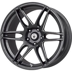 New 17X7.5 5x100 KONIG Deception Black Wheels/Rims