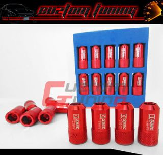 20X UNIVERSAL FORGED POLISH WHEEL LUG NUTS RED SUZUKI SIDEKICK SAMURAI