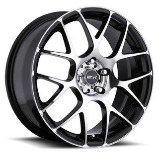 18 inch MSR 095 black trim wheel rim 5x105 +42