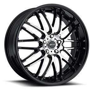 Staggered MSR 093 black trim wheel rim 5x4.5 RX 7 RX 8 I30 G35 G37 I35