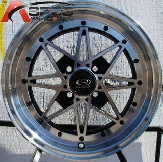 15X7 ROTA SA RACING 4X100 +40 FULL ROYAL BLACK FITS CIVIC YARIS MIATA