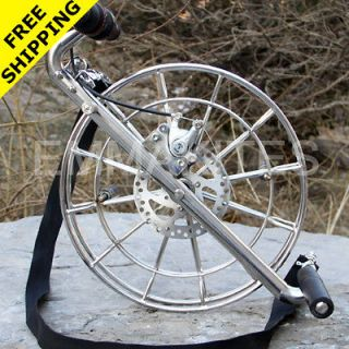 14 / 36CM Disc Brake Stainless Steel Kite Line Reel / Winder / Lock