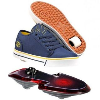 Edge + Nano Board Heely Wheel Lace Shoe Combo  Blue/Yellow Size UK 1
