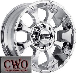 20 Chrome MKW M85 Wheels Rims 8x165.1 8 Lug Chevy GMC 2500 HD Dodge