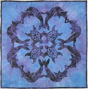 Sea Turtles & Dolphins Hawaiian Style Quilt Pattern Pac Rim Quilting