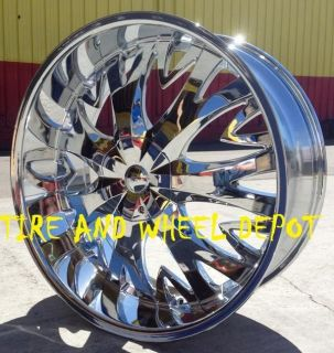 24 INCH H8 RIMS AND TIRES CHARGER 300 EXPLORER CUTLASS CHEVELLE NOVA