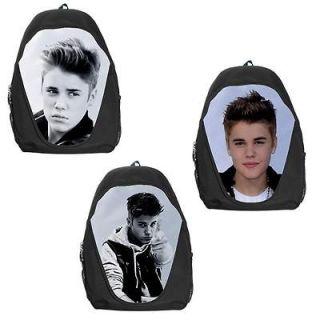 Justin Bieber Knapsack Style Backpack Bag 3 Designs Available