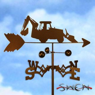 Hand Made TRACTOR LOADER BACKHOE BACK HOE Weathervane