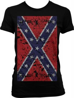 Giant Distressed Confederate Flag Old South Southern Pide Girls Junior