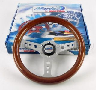 Sport Line 320 mm Wood Marine Boat Steering Wheel