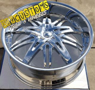26 INCH WHEELS + TIRES HW7 CHROME SILVERADO 2007 2008 2009 2010 2011