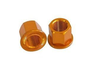 Savage BMX Bike Wheel Nuts Alloy Orange 10mm 3/8 RRP£9
