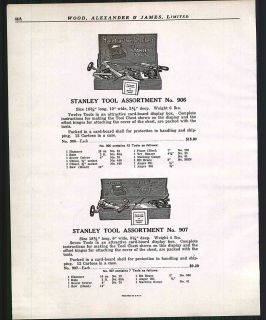 1925 Ad Stanley Tool Chest ORIGINAL ADVERTISING