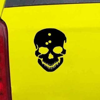 Skull with Bullet Holes Decal Sticker   24 Colors   3.75 x 5