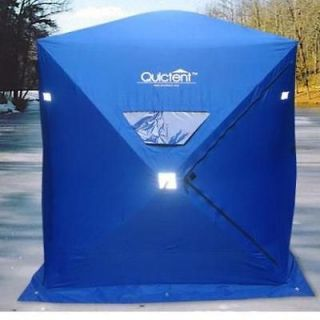 New Blue Ice Fishing Shelter House Shanty 1 2 Persons Man 600D Oxford