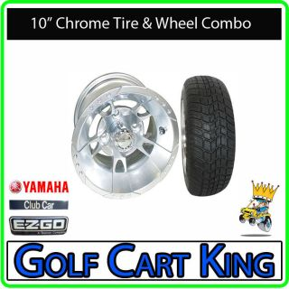 RX191 Chrome Low Profile Golf Cart 10 Wheel/Tire Combo
