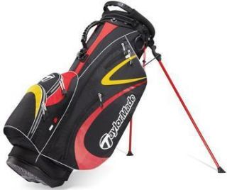 2011 TaylorMade PureLite 2 0 Golf Stand Carry Bag Blk Red Gold Brand