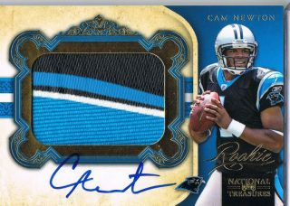 2011 NATIONAL TREASURES RPM ROOKIE RC AUTO JUMBO 4CLR PATCH GOLD #/49