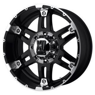 inch Black wheels rims KMC XD 797 SPY Jeep Wrangler 2007 2013 only 5x5