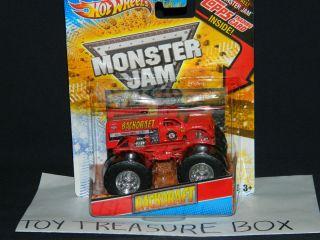 HOT WHEELS MONSTER JAM 2012 BACKDRAFT 1 64 FIRE TRUCK MONSTER TRUCK