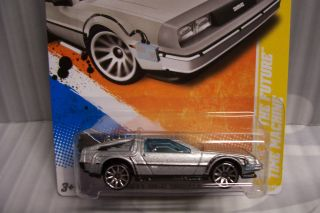 2011 Hot Wheels Back to The Future Delorian Time Machine Car