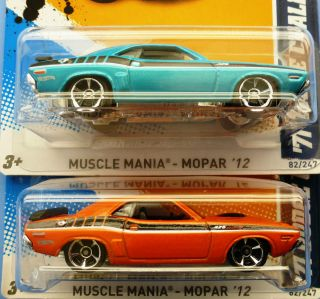 Hot Wheels Two 2012 71 Dodge Challenger Color Variations Check Photp
