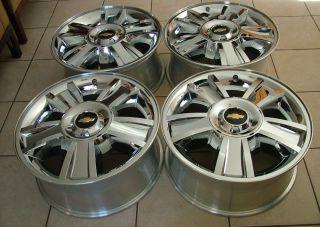 Silverado Avalanche Suburban 1500 20 Chrome Clad Wheels 2009 2012