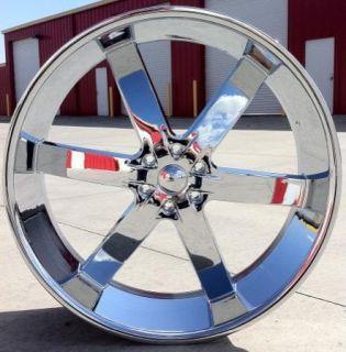 24 inch U2 55 Wheels Rims Tires 2007 2008 2009 2010 Silverado Tahoe