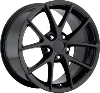 2009 2013 C6 Z06 Gloss Black GM Original Factory Spyder Wheel Rims