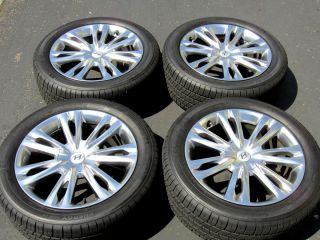 "2012 18"" Hyundai Genesis hyper silver OEM factory wheels rims Sedan"