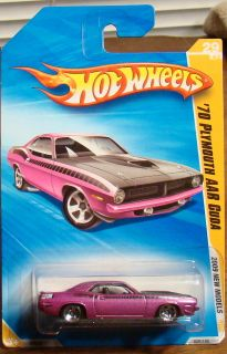 Hot Wheels 70 Plymouth AAR Cuda 2009 New Models 09 Purple