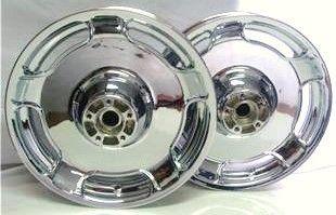 2002 2008 Harley Street Glide FLH Custom Chrome Wheels