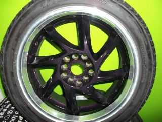 Scion Tc 2007 Custom Painted Purple Colored Rims Tires Package 215 45