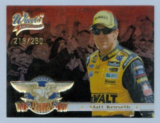 MATT KENSETH 2007 07 WHEELS AMERICAN THUNDER DREAM INSERT GOLD
