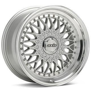 Axis Klassic Black and Silver Polish Lip Wheels Rims Brand New