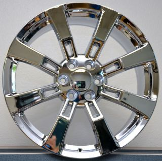Chrome GMC Denali Escalade Sierra Yukon Tahoe Wheels Rims Set