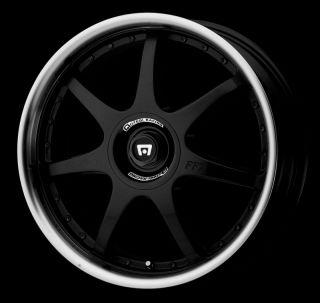 MOTEGI RACING MR237 BLACK WHEELS RIMS 4X100 4X114 3 4 LUG 18 INCH