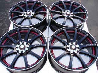 4x100 Black 4 Lug Wheels Miata Cabrio Jetta Golf Accord Cooper Rims