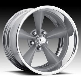 2pc Wheel Set FOOSE Style Rims Painted Silver Torque Thrust