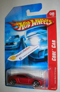 Aston Martin V8 Vantage Red 2007 Hot Wheels Code Car 8 24