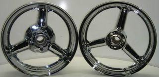 600 750 1300 Hayabusa Chrome Wheels Bling Fron Rear 1996 2007