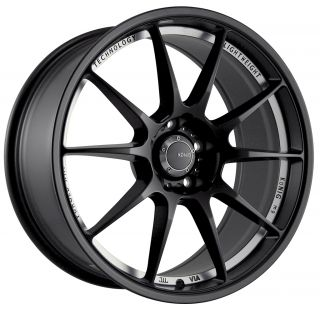 18 Konig Milligram Black Rims Wheels 18x10 25 5x114 3 Evolution evox