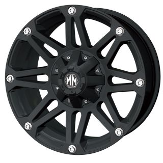 18 X 9 BLACK MAYHEM RIOT RIMS W NITTO LT285 65 18 TRAIL GRAPPLER TIRES