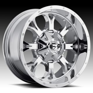 20x12 Krank XD 20 inch Chevy Ford Dodge Chrome Wheels Rims Set