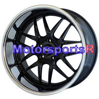 20 20x9 20x11 XXR 526 Black Polished Lip Rims Staggered Wheels 5x120