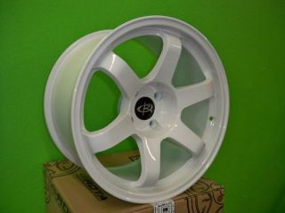 17 Rota Grid White Rims Wheels 17x9 17x9 5 12 4x114 3 240sx s13 S14