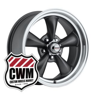 17x7 Charcoal Gray Wheels Rims 5x4 75 lug pattern for Chevy S10 Blazer